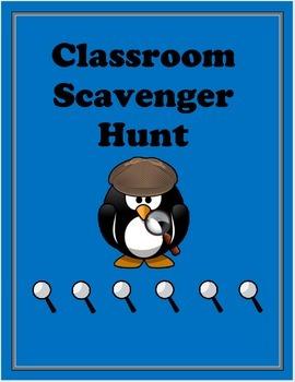 Classroom Scavenger Hunt