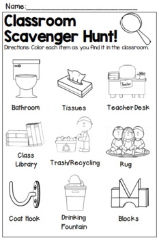 photo relating to Classroom Scavenger Hunt Printable called Open up Residence Clroom Scavenger Hunt Worksheets Coaching