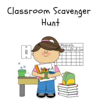 First Day of School Activity - 'Classroom Scavenger Hunt'