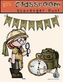 Classroom Scavenger Hunt Back to School Activity