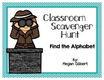 Classroom Scavenger Hunt - Alphabet