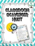Classroom Scavenger Hunt (Back to School)