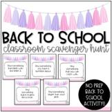 Classroom Scavenger Hunt | Back to School Activity | NO PREP
