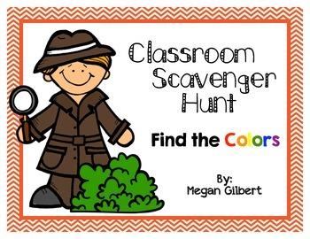 Classroom Scavenger Hunt - Colors