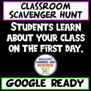 Classroom Scavenger Hunt (EDITABLE)