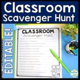 Classroom Scavenger Hunt {EDITABLE} A Fun Back to School Activity!