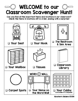 photo relating to Classroom Scavenger Hunt Printable identified as Open up Household Clroom Scavenger Hunt Worksheets Training