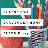 Classroom Scavenger Hunt Freebie