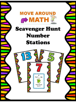 Classroom Scavenger Hunt Games: Permanent Number Stations 1-15