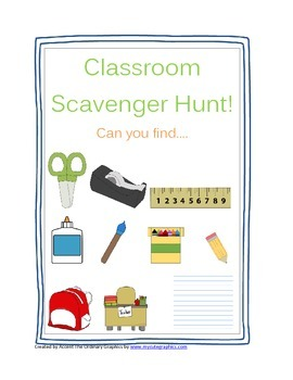 Classroom Scavenger Hunt Get To Know Your Classroom