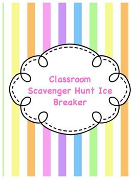 Classroom Scavenger Hunt Icebreaker Activity