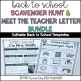 Classroom Scavenger Hunt and Meet the Teacher Letter Editable Templates