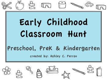 Preschool Classroom Scavenger Hunts