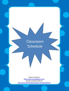 Cool Themed Classroom Schedule