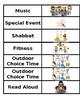 Classroom Schedule Editable