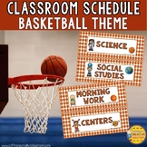 Classroom Schedule- Basketball Theme