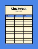 Classroom Schedule ( Blue Color)