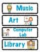 Classroom Schedule Cards