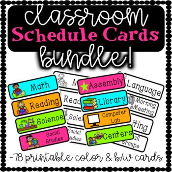 Classroom Schedule Cards BUNDLE