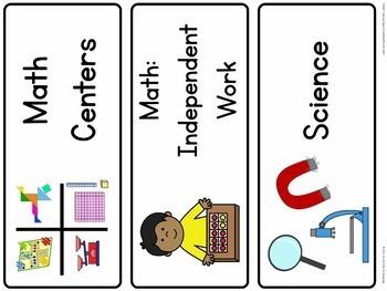 Multi-Age Classroom Schedule Cards (Editable Version)