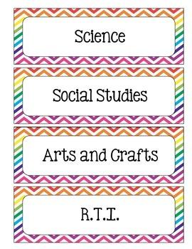 Classroom Schedule Cards - Chevron Theme