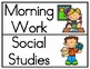 Classroom Schedule Cards- Color and Black & White
