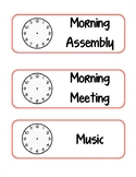 Classroom Schedule Cards Coral