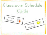 Classroom Schedule Cards- EDITABLE