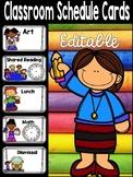 Classroom Schedule Cards EDITABLE