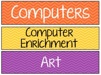 Classroom Schedule Cards *Editable*
