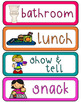 Classroom Schedule Cards (Editable) Tropical