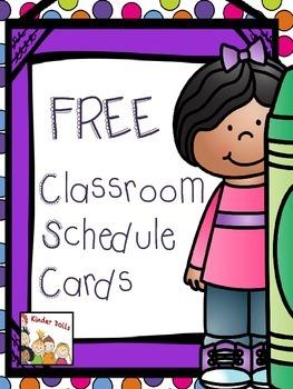 Classroom Schedule Cards- FREEBIE