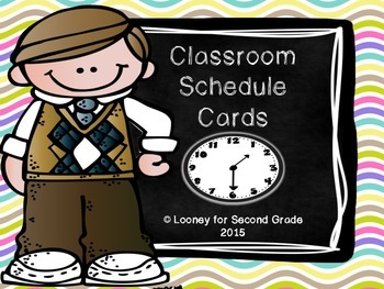 Classroom Schedule Cards - Pastel Polka Dot Theme