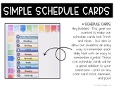 Simple Classroom Daily Schedule Cards for Back to School