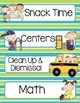 Classroom Schedule Cards Teal and Green PK-5th