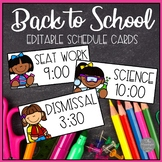 Editable Classroom Schedule Cards for ANY Theme