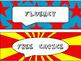 Classroom Schedule Cards in Comic Book Theme