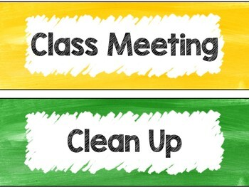 Classroom Schedule Cards in Rainbow Theme