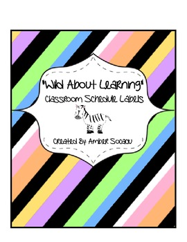 Classroom Schedule Cards in a Wild About Learning Theme