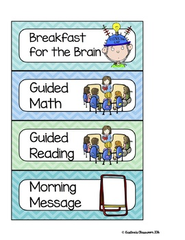 Classroom Schedule Cards with picture labels