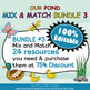 Classroom Schedule Cards with Clocks in Our Pond Theme  - 100% Editable
