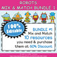 Classroom Schedule Cards with Clocks in Robot Theme  - 100% Editable