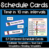 Classroom Schedule Cards with Editable Template