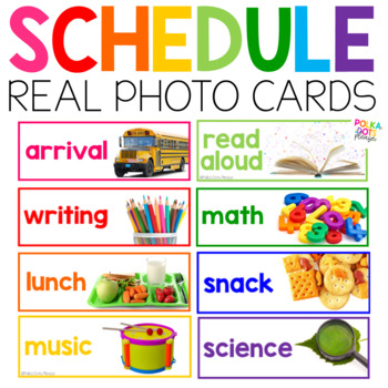 Classroom Schedule Cards with Photographs