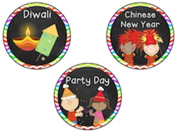 Classroom Schedule Cards with clubs and special days!
