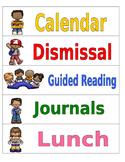 Classroom Schedule Chart