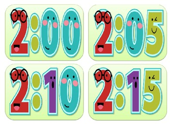 Classroom Schedule Display Signs and Time Cards Bundle