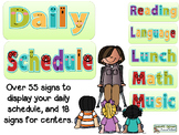 Classroom Schedule Display Signs and Time Cards