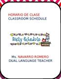 Classroom Schedule Dual Language (editable)