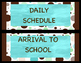 Classroom Schedules/Hall Passes